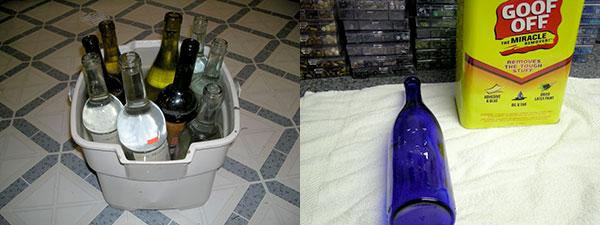 bottles are cleaned in prep for flattening